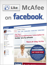 Like McAfee on Facebook