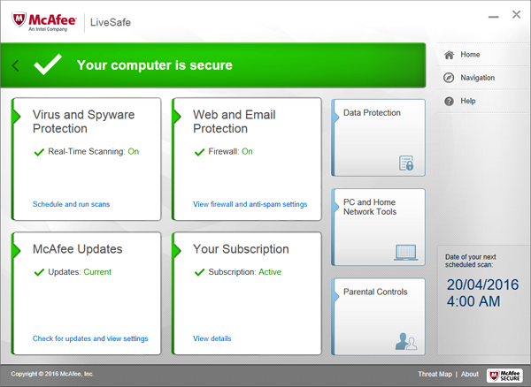 Try McAfee LiveSafe free for 30 days