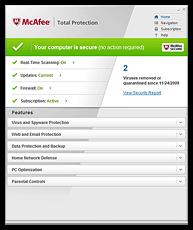 Schermata di McAfee Total Protection
