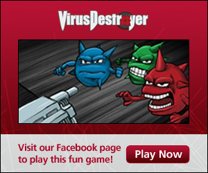 Virus Destroyer game on facebook