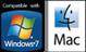 Window7 and Mac logos